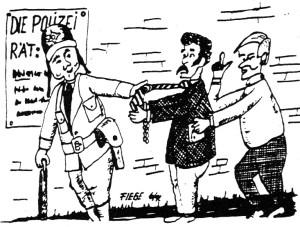 polizei_karikatur Erwin Fiege 1992
