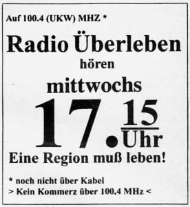 radio überleben