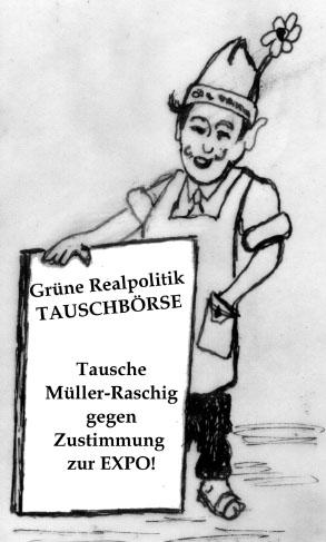 Grüne Realpoliitik, Karikatur Erwin Fiege