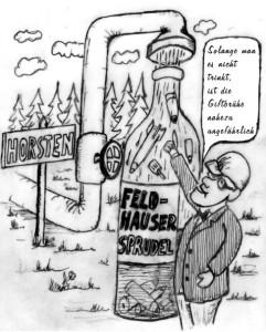 Trinkwasser, Karikatur: Erwin Fiege