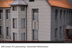 3D-Laserscan der Südzentrale. Screenshot aus dem Kurzfilm der BIM.