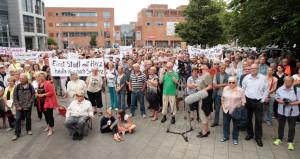 BürgerInnen kämpfen für den Banter See. Foto: Imke Zwoch