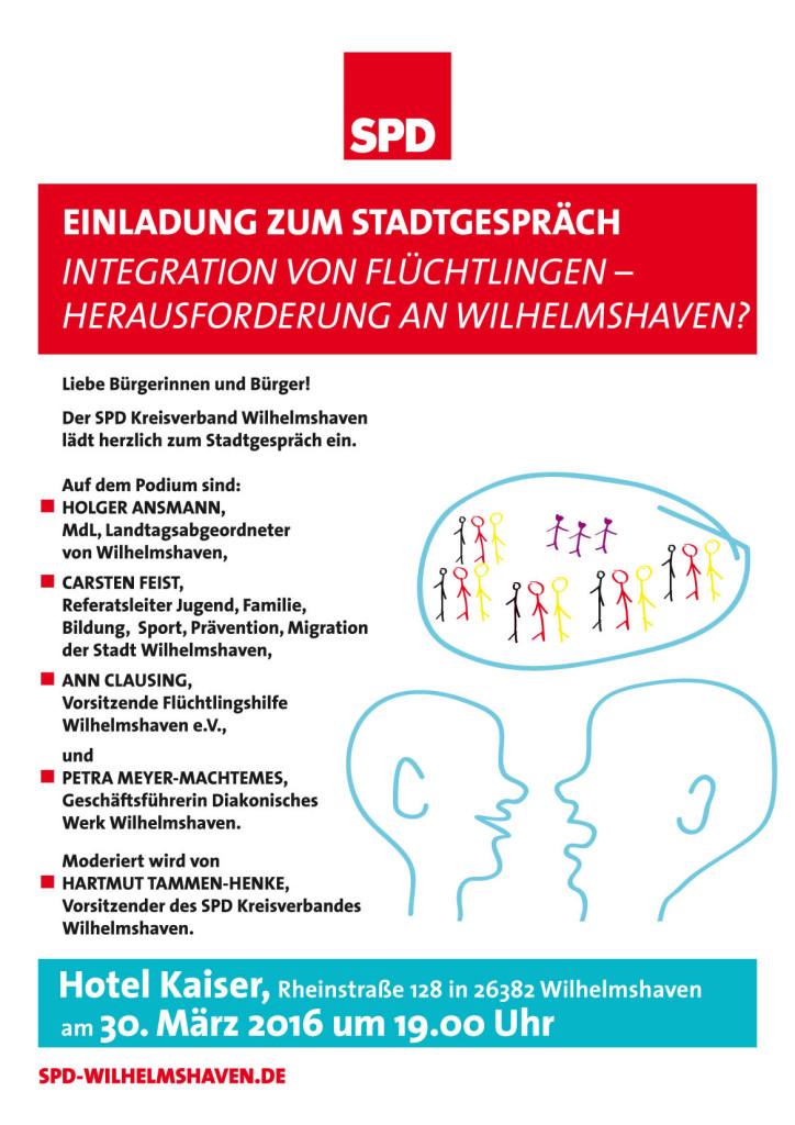 SPD-Integration von Flüchtlingen-Plakat.indd