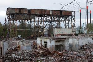 Abriss des Kesselhaus-Restes der Südzentrale, April 2016. Foto: Gegenwind