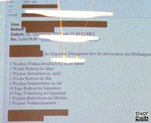 Die anonym versandte 'Abwesenheitsliste' war Gegenstand einer Sondersitzung des Stadtrates am 19.01.2018 | Foto: Ulf Berner