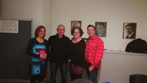 """Foto von links nach rechts: Nora Langer, Jürgen Adam, Birgit Holtz, Michael Janßen. Auf dem Foto fehlt Michael Veh"""""""