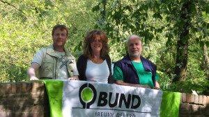 Vorstand BUND-Kreisgruppe Wilhelmshaven Auf dem Foto v.L.: Rainer Büscher, Imke Zwoch, Georg Berner-Waindok, Foto: BUND/ Ulf Berner