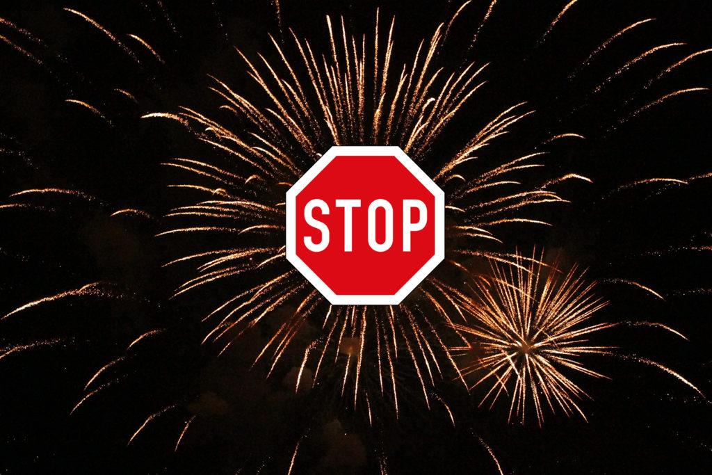 Stopp Feuerwerke. Foto: BUND